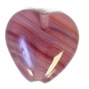 Glass Pressed Beads 10x10mm Heart Red/Brown